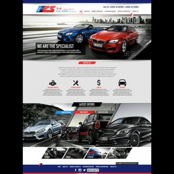 Website Portofoilo BMW