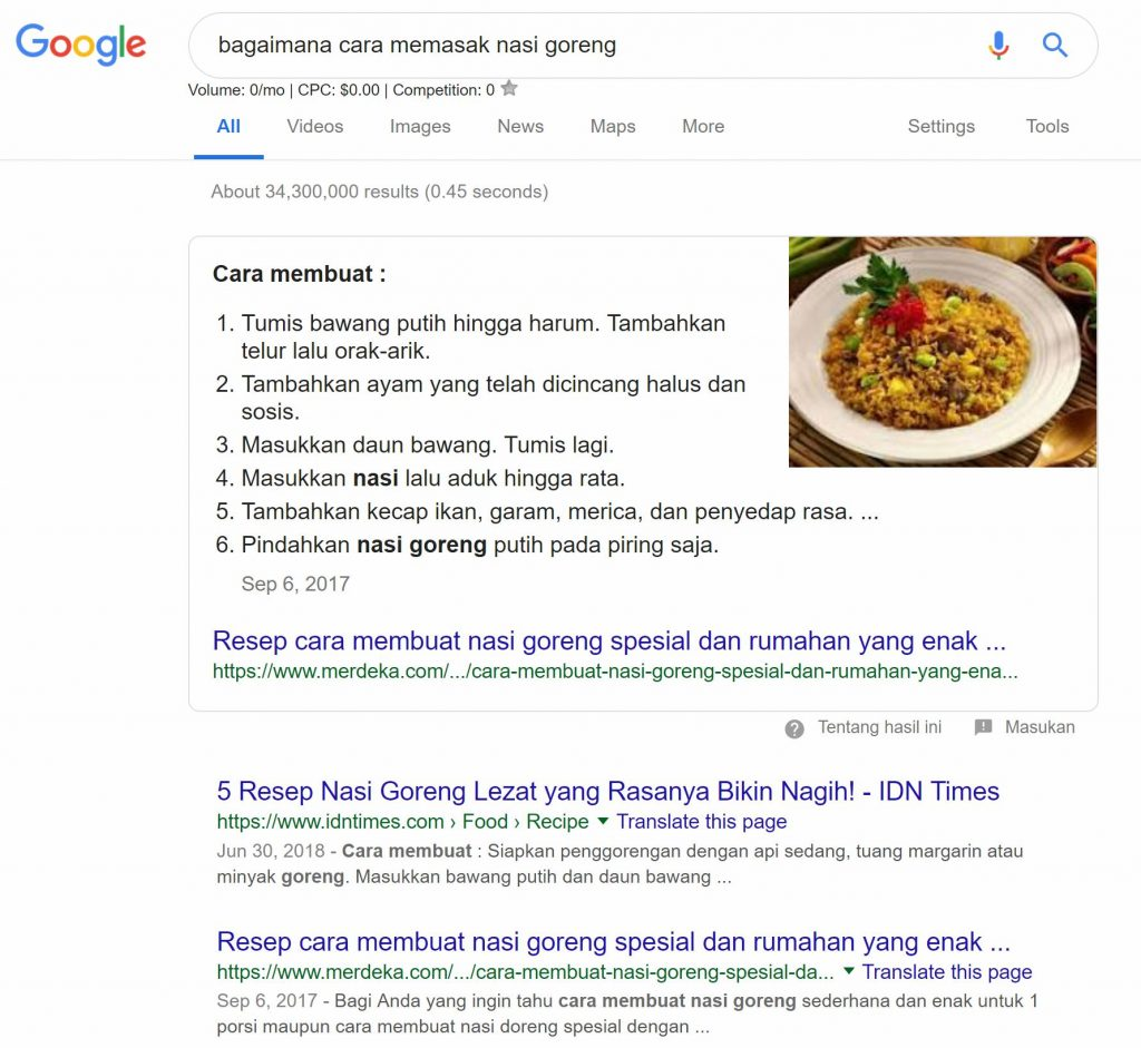 position rank zero seo indonesia